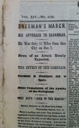 """Our troops attacked and routed the enemy."" Newspaper Civil War"
