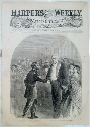 Historic Newspaper with Large Civil War Illustrations including General Grant and Lincoln as a...